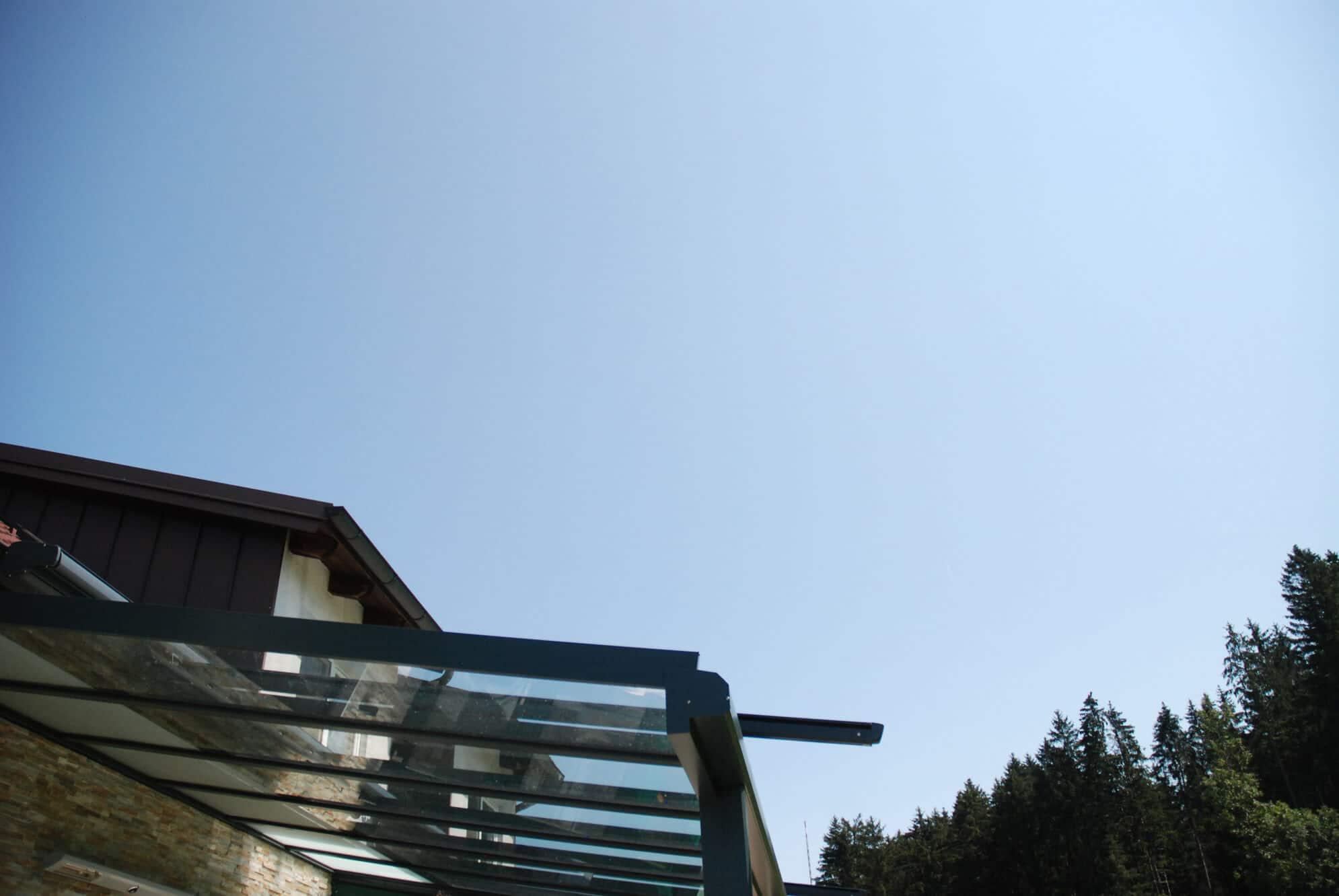 Terrassenüberdachung Alu anthrazit Oberösterreich