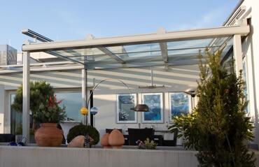 Terrassenüberdachung Alu Glas Österreich