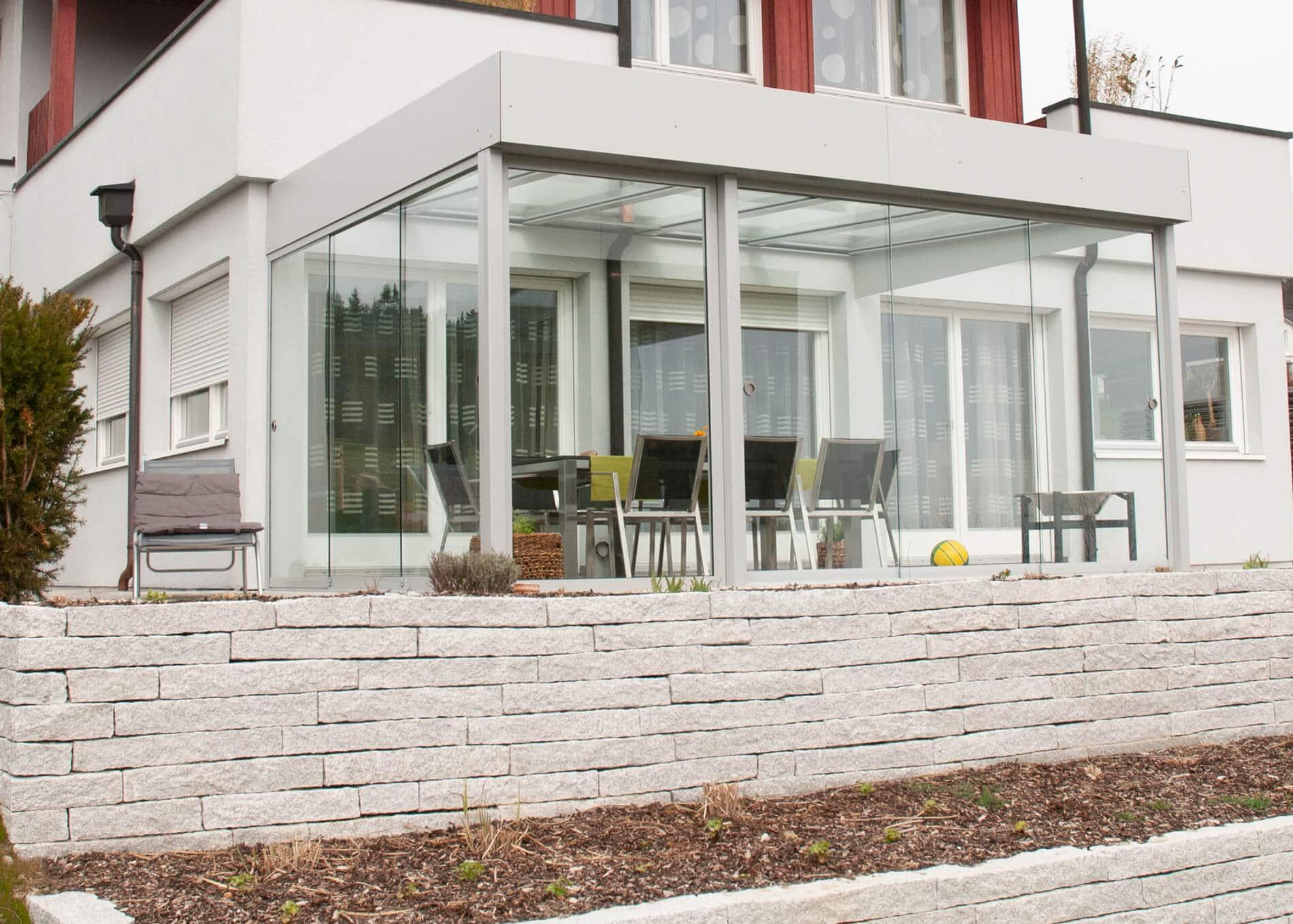 Terrassenüberdachung Alu modern