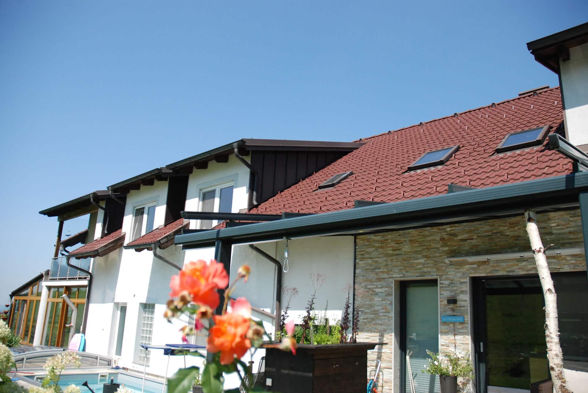 Terrassenüberdachung Alu Systeme mit VSG-Verglasung
