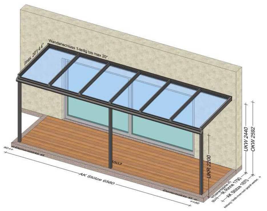 Terrassenüberdachung Alu über 6 Meter