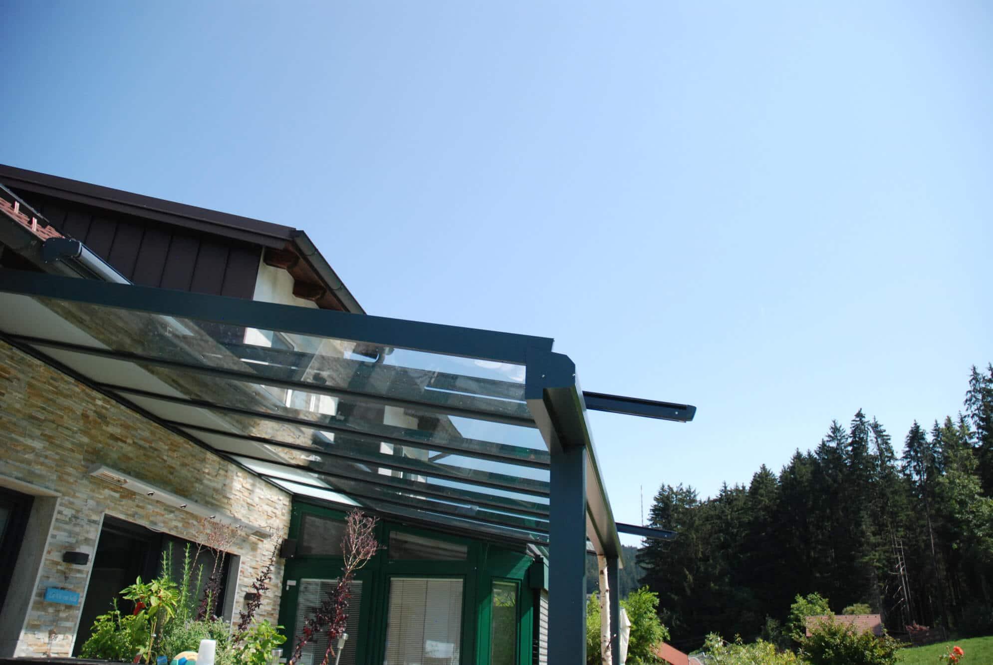 Terrassenüberdachung Alu und Glas Österreich