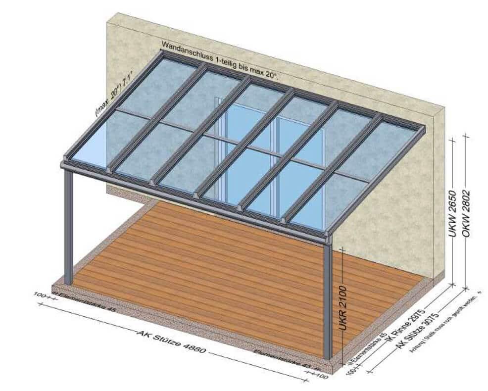 Terrassenüberdachung Amstetten Österreich - Planung