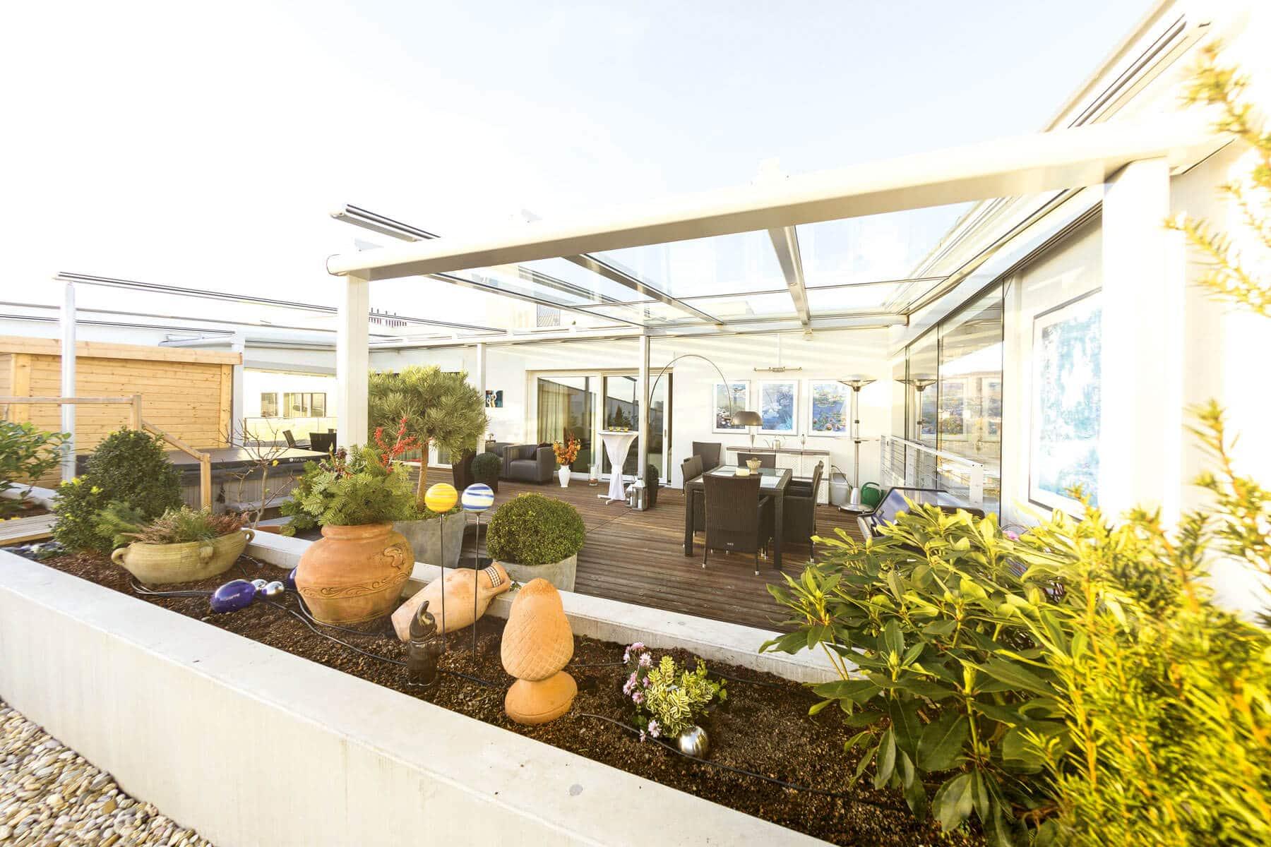 Terrassenüberdachung - Dachterrasse