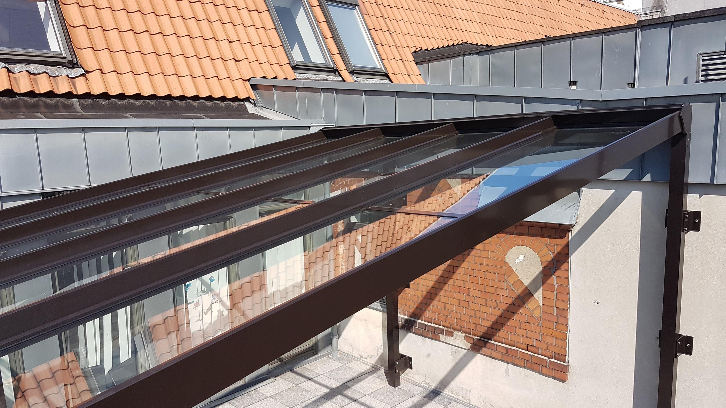 Terrassenüberdachung Detail Glasdach