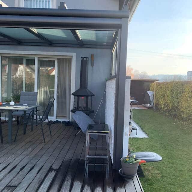 Terrassenüberdachung dunkel grau in 4910 Ried im Innkreis