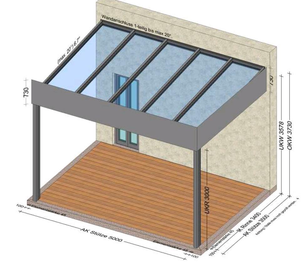 Terrassenüberdachung Flachdach Alu