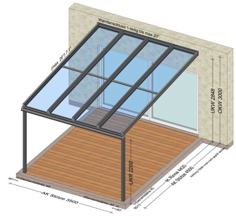 Terrassenüberdachung für Stadtgemeinde Leonding - OÖ