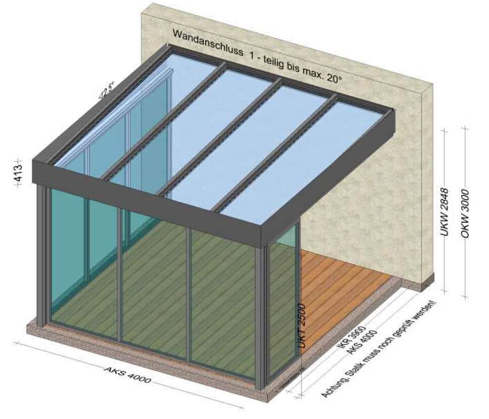 Terrassenüberdachung geplant von Schmidinger
