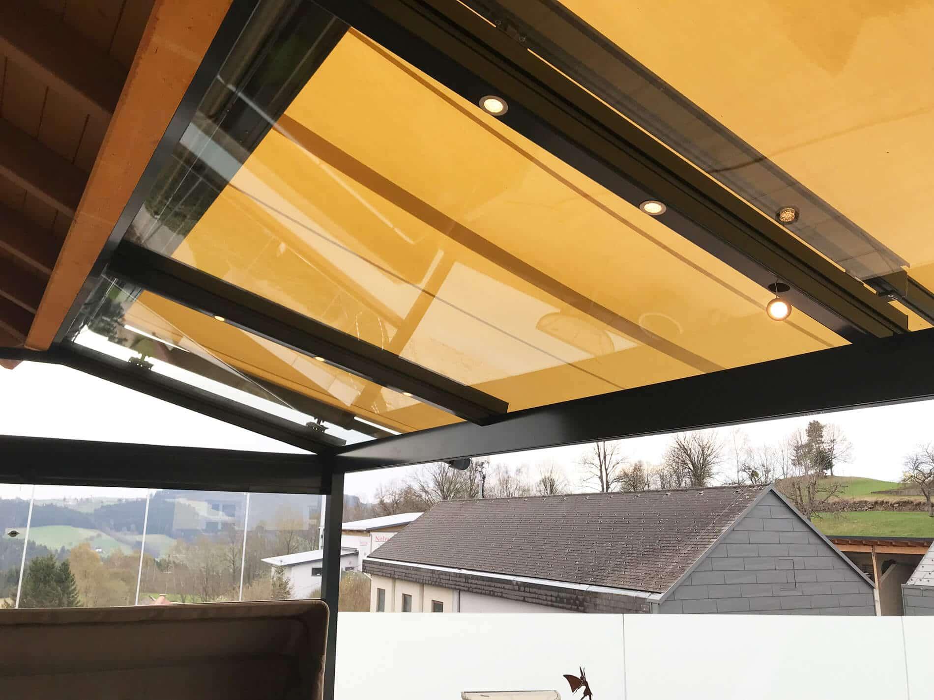 Terrassenüberdachung Glasdach Markise