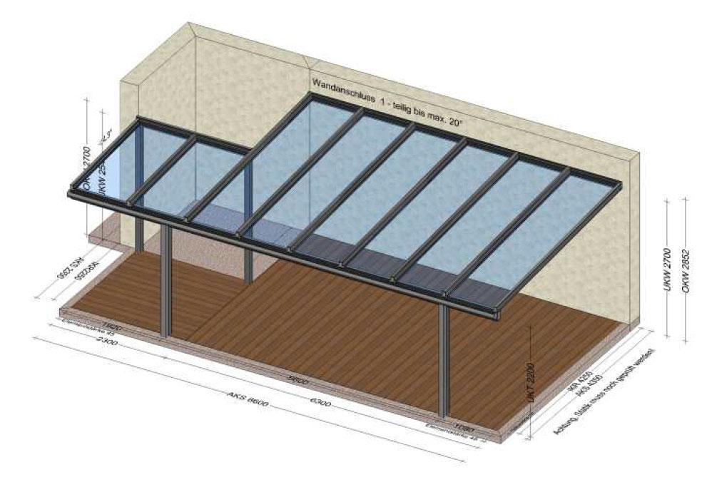 Terrassenüberdachung in Grieskirchen-OÖ - Planung