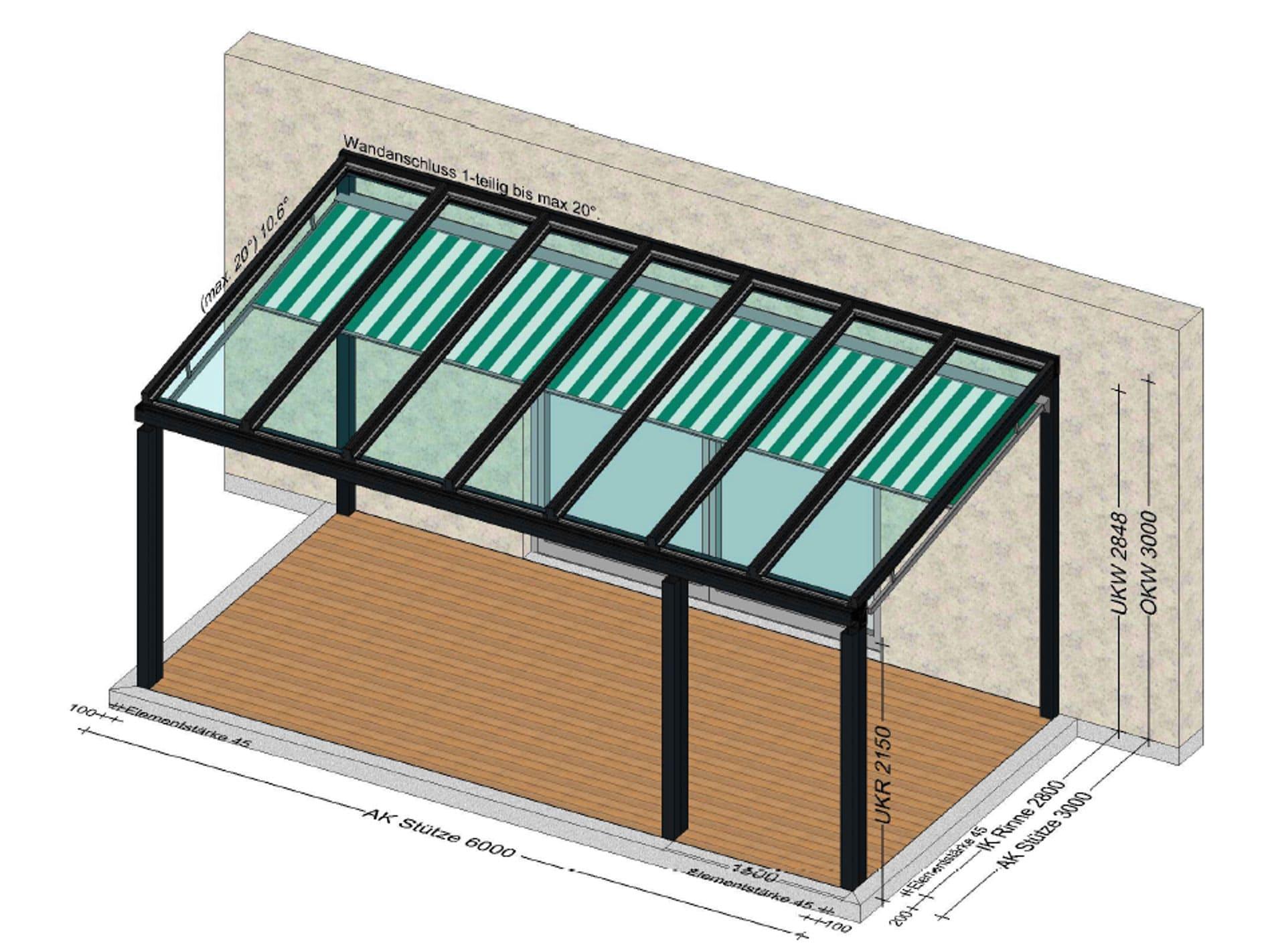 Terrassenüberdachung mit Beschattung Preis