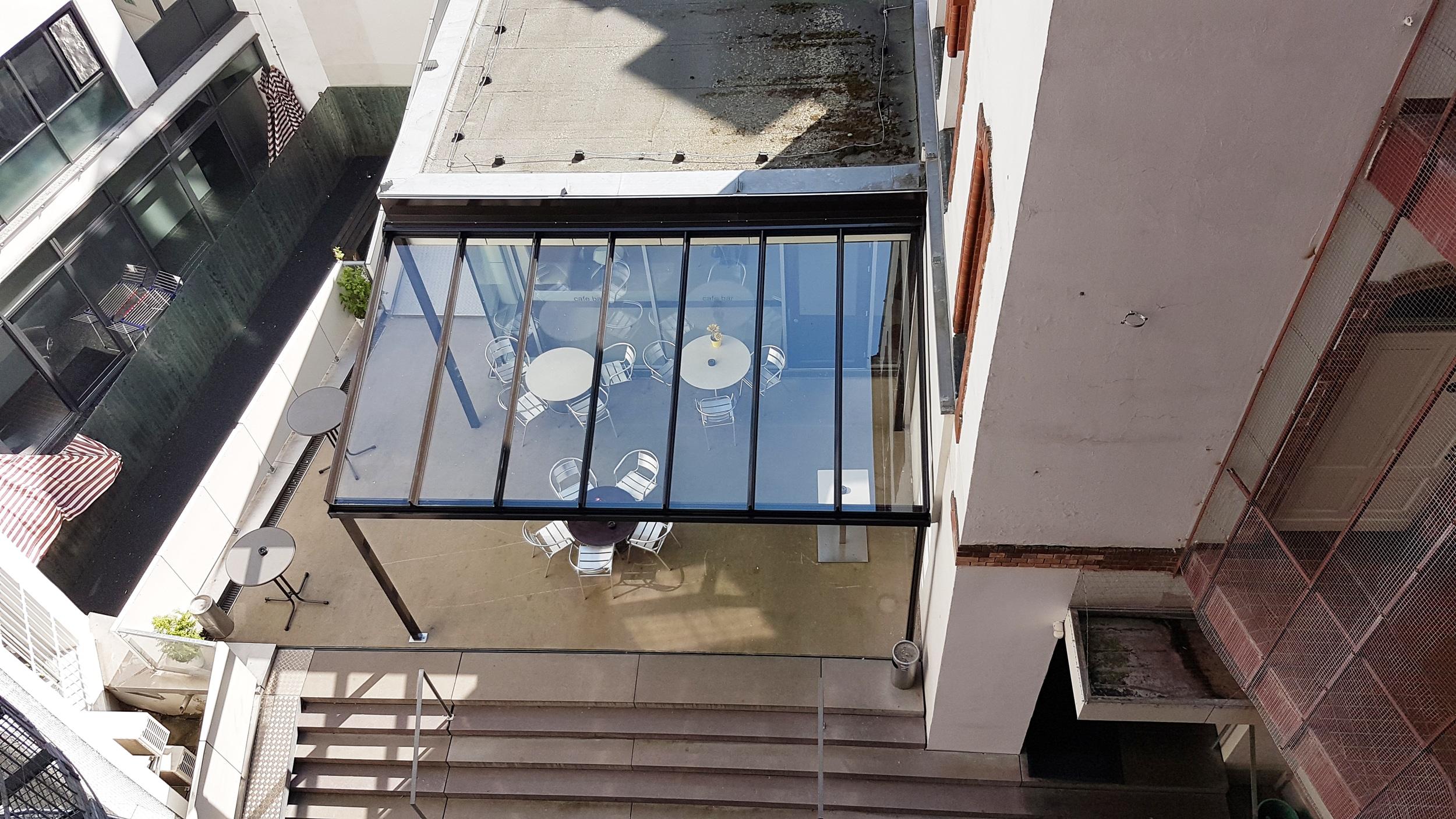 Terrassenüberdachung mit Echtglas