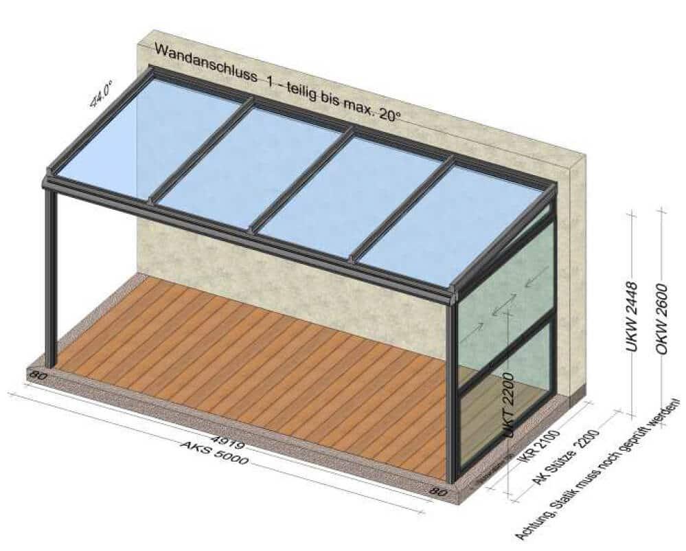 Terrassenüberdachung mit Schiebeelemente Preis
