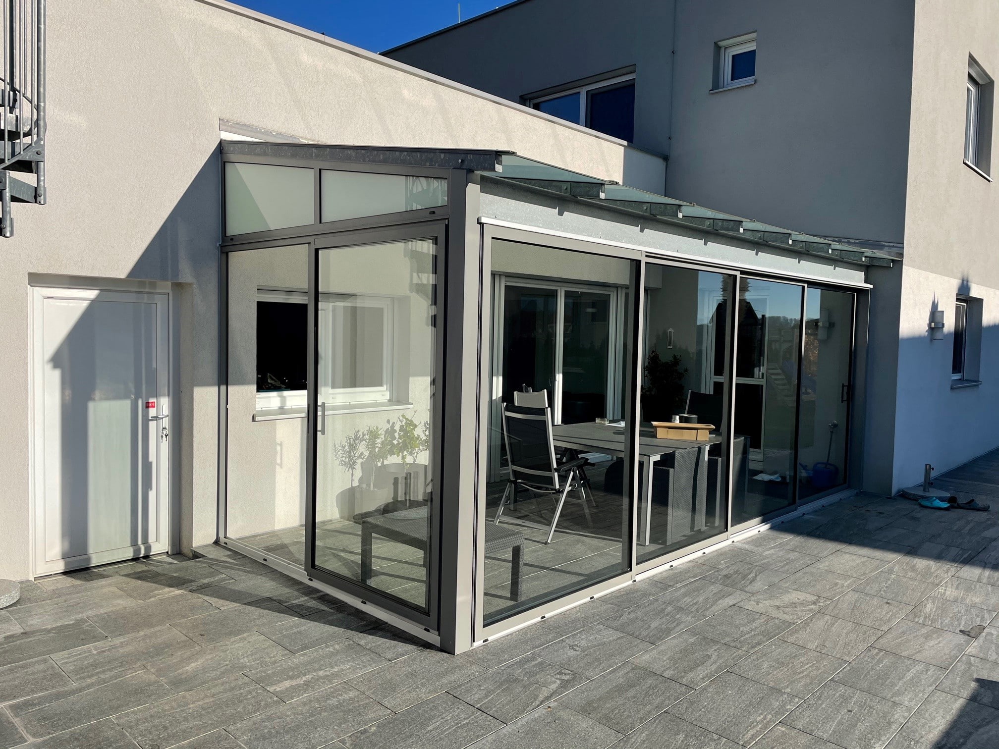 Terrassenüberdachung mit Seitenwänden