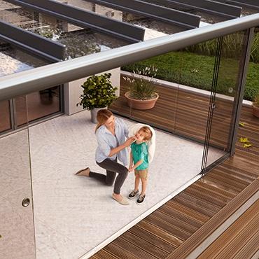 Terrassenüberdachung nachträglich schließen - erweitern