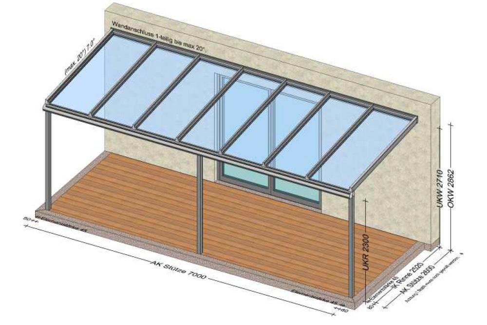 Terrassenüberdachung Planung für Eferding OÖ