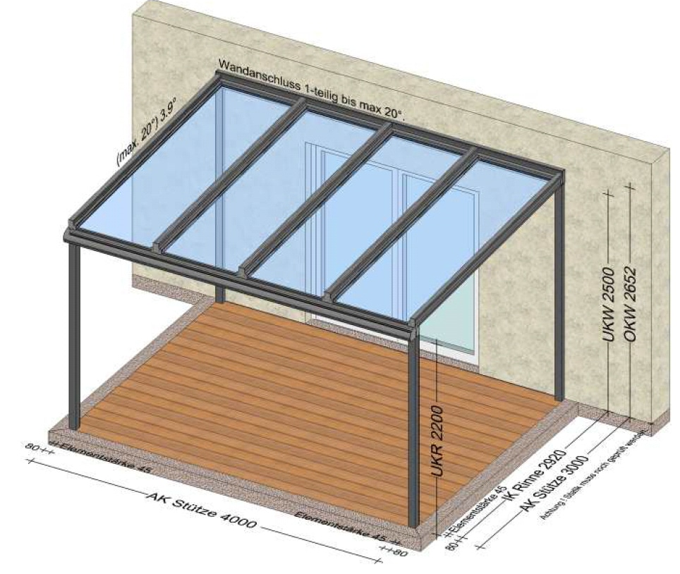 Terrassenüberdachung Planung in Rohrbach Oberösterreich
