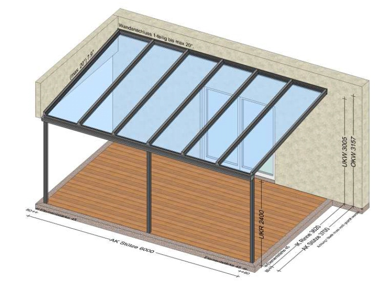 Terrassenüberdachung Planung Perg Oberösterreich