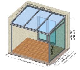 Terrassenüberdachung Rechenbeispiele