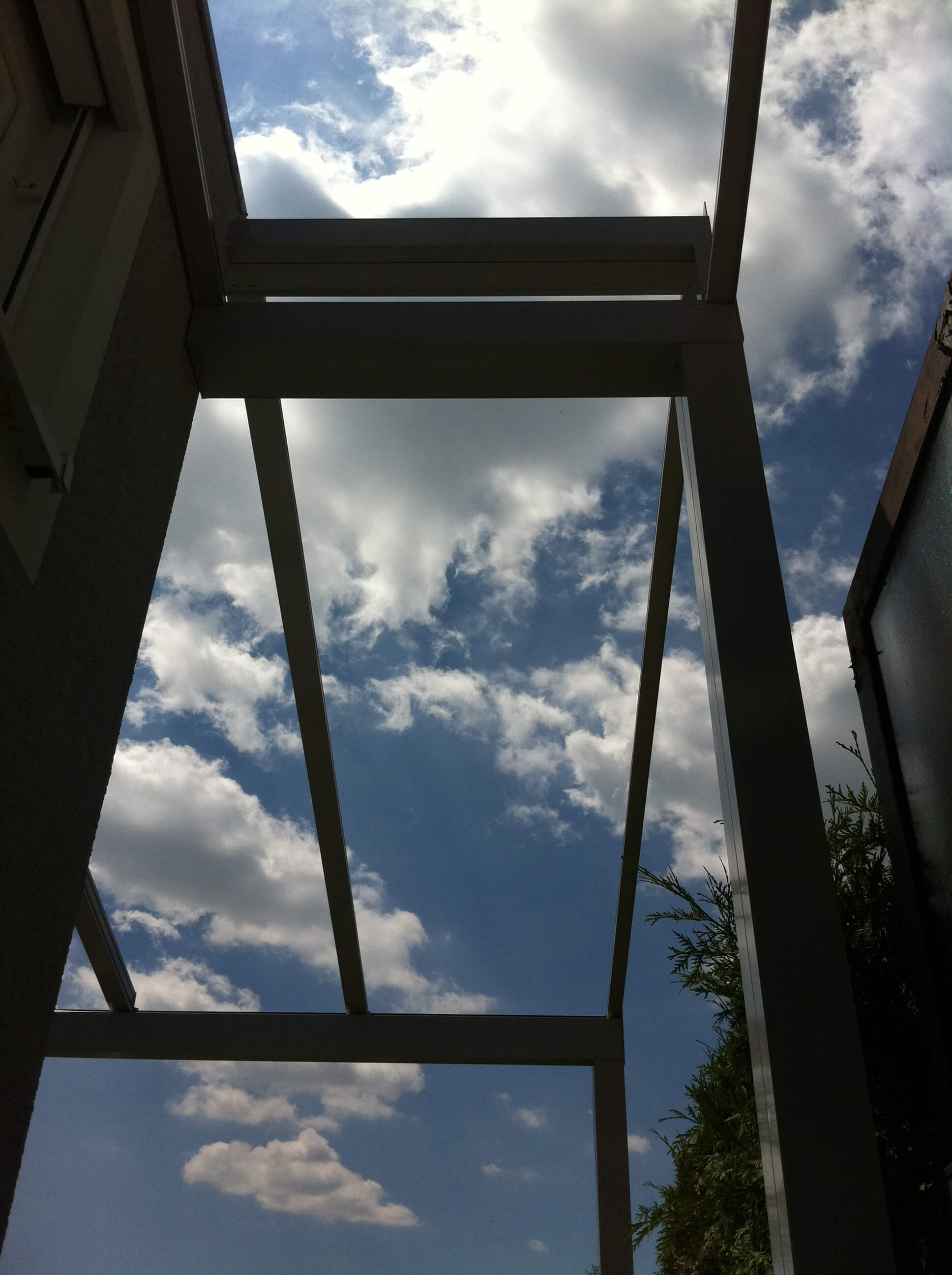 Terrassenüberdachung Sonderkonstruktion