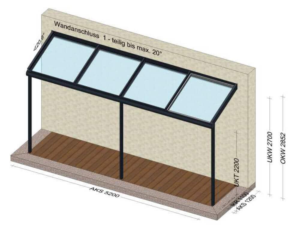 Terrassenüberdachung Stiegenaufgang Planung