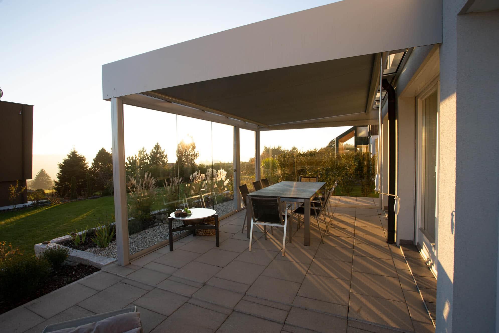 Terrassenüberdachung Unterglasmarkise