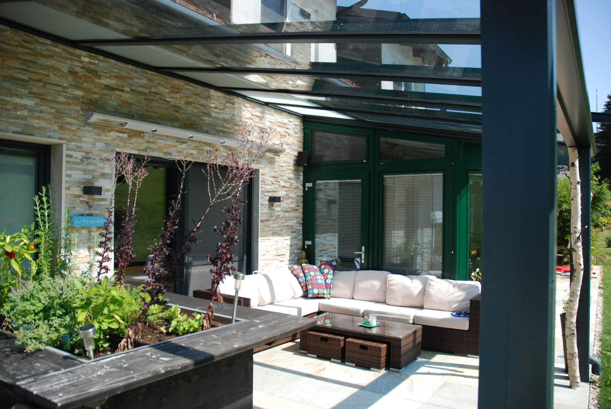 Terrassenverbau Glasdach