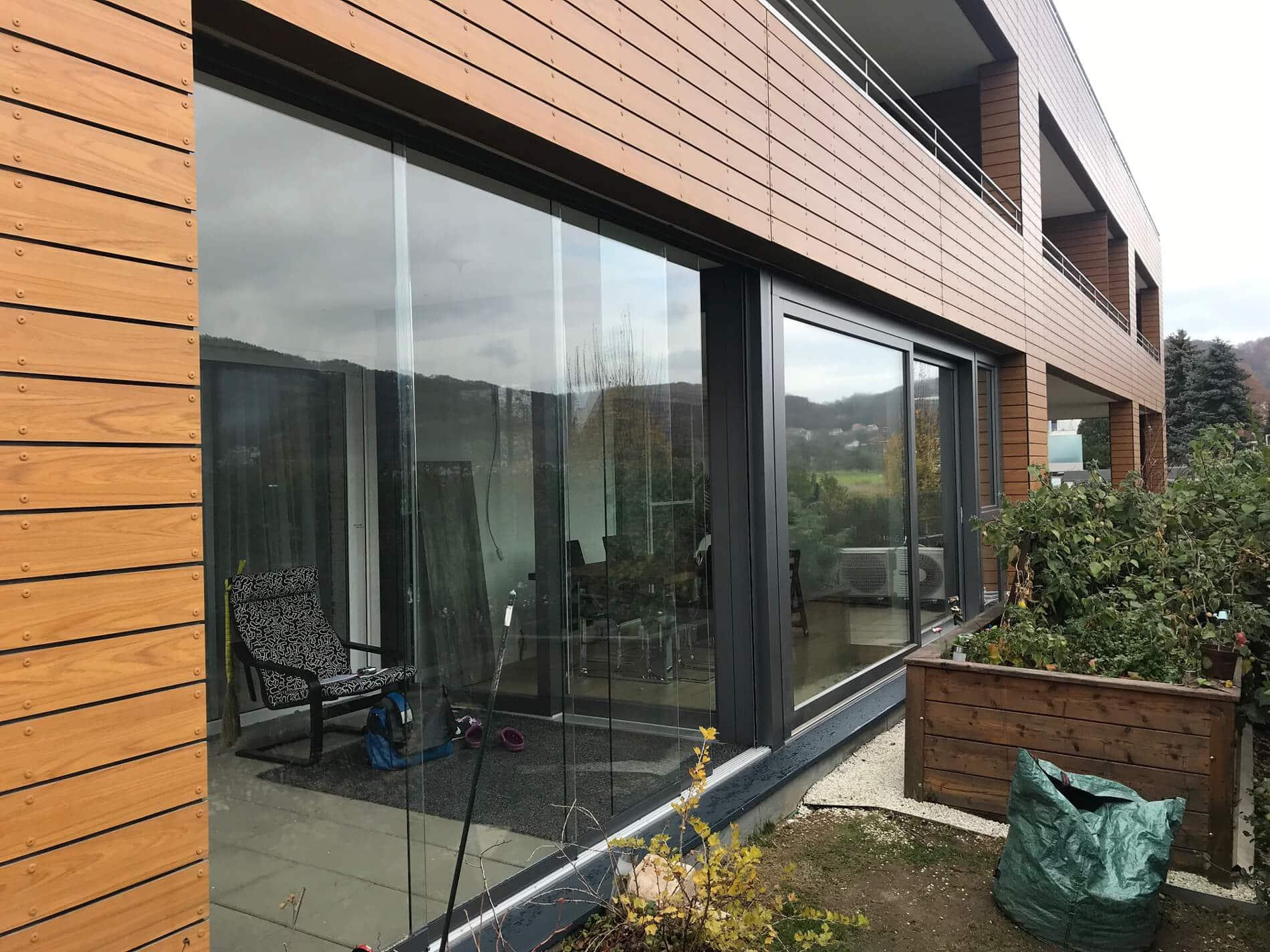 Terrassenverbau schiebbar