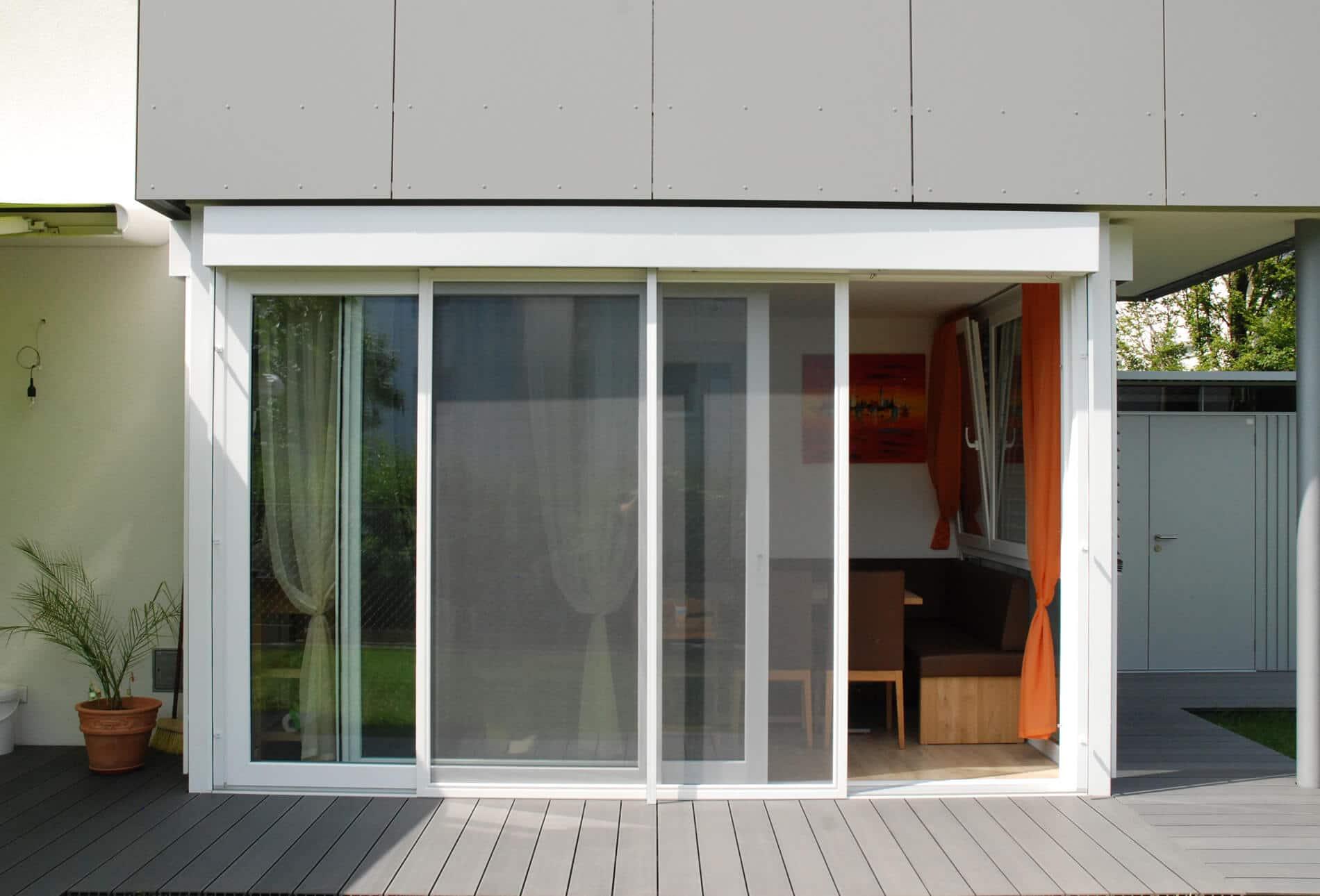 Terrassenverbau Schiebesystem Kunststoff