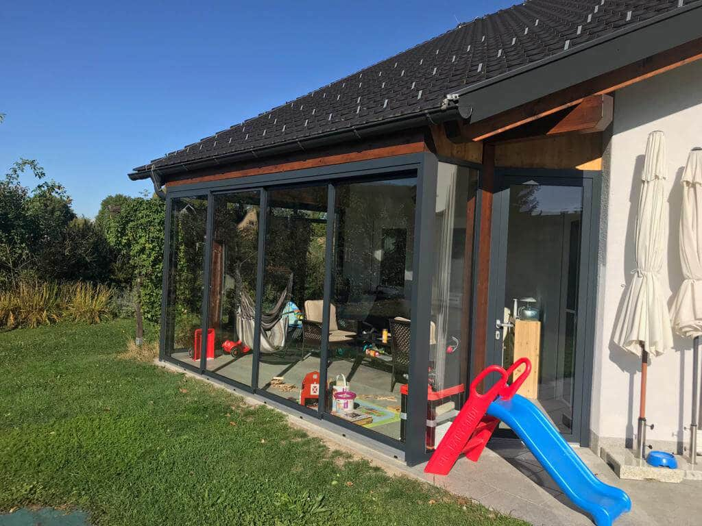 Terrassenverglasung als Windschutz für Terrassen - Oberösterreich