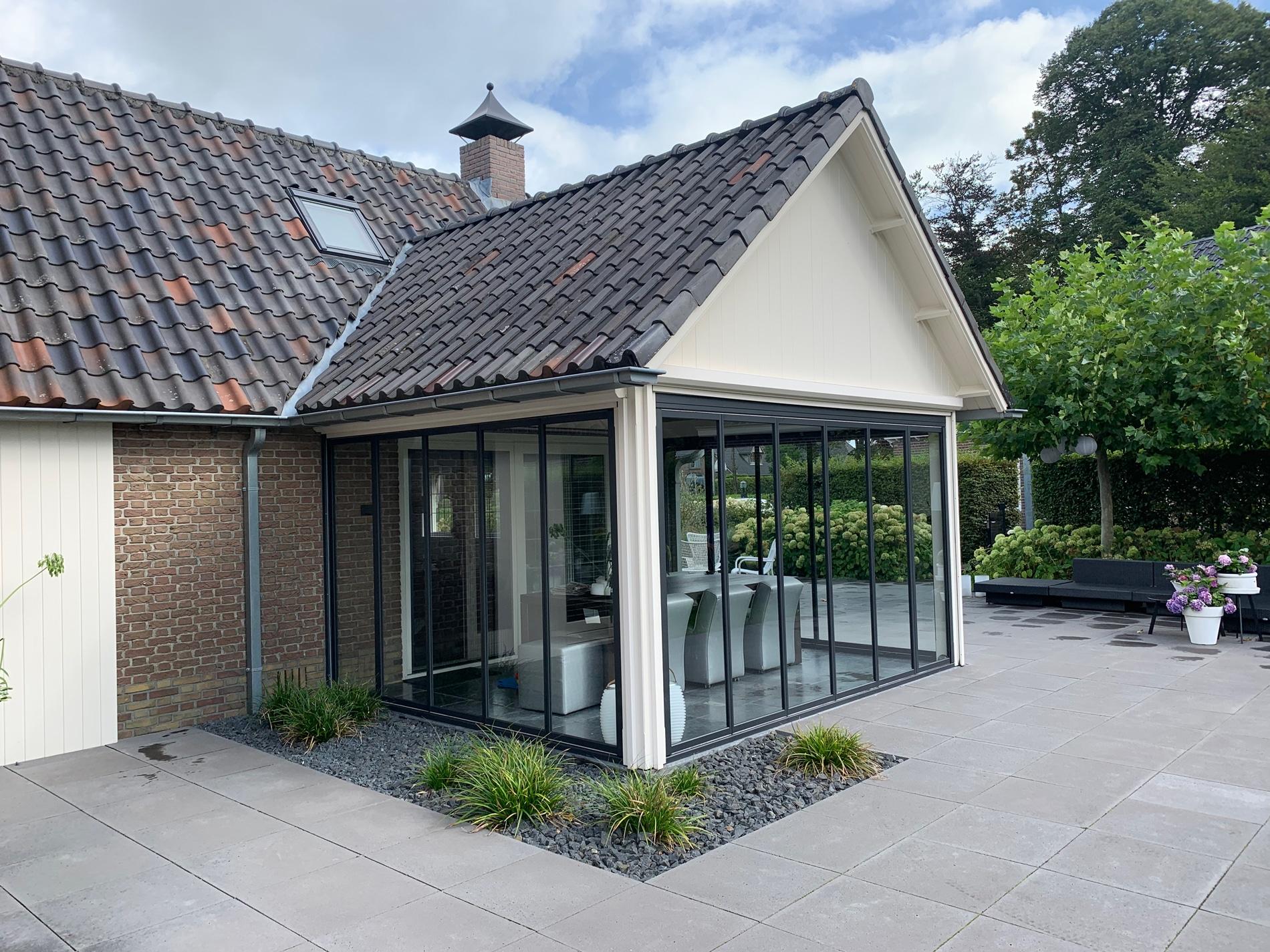 Terrassenverglasung Faltsystem