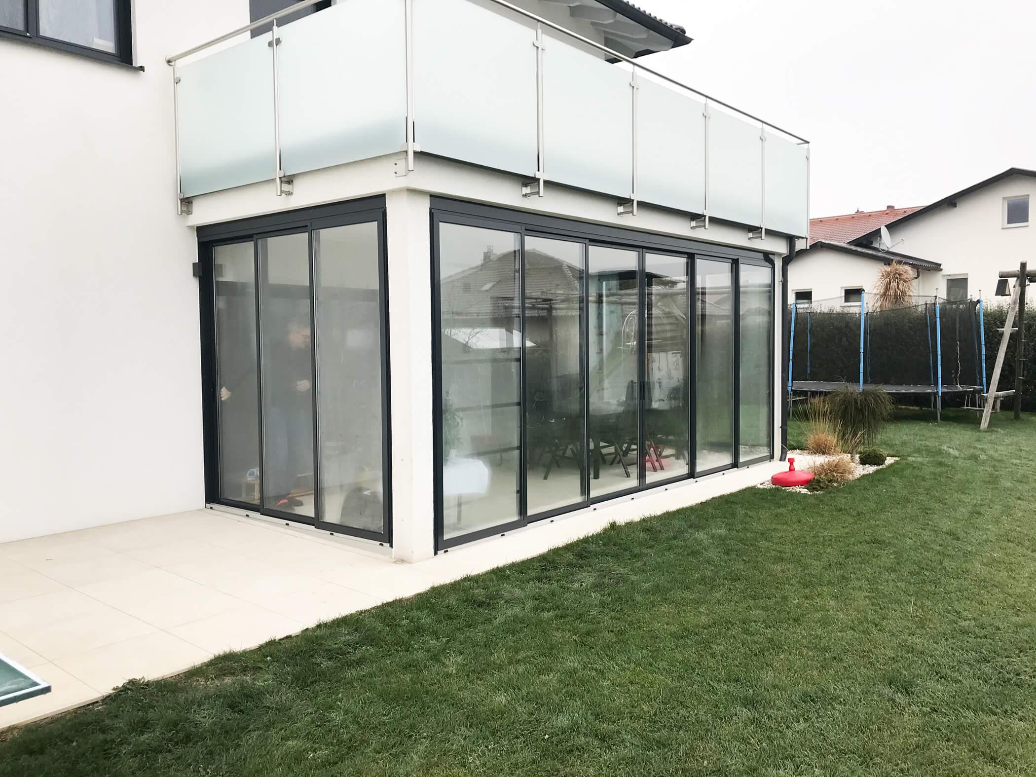 Terrassenverglasung Schiebetüren in 4224 Wartberg ob der Aist