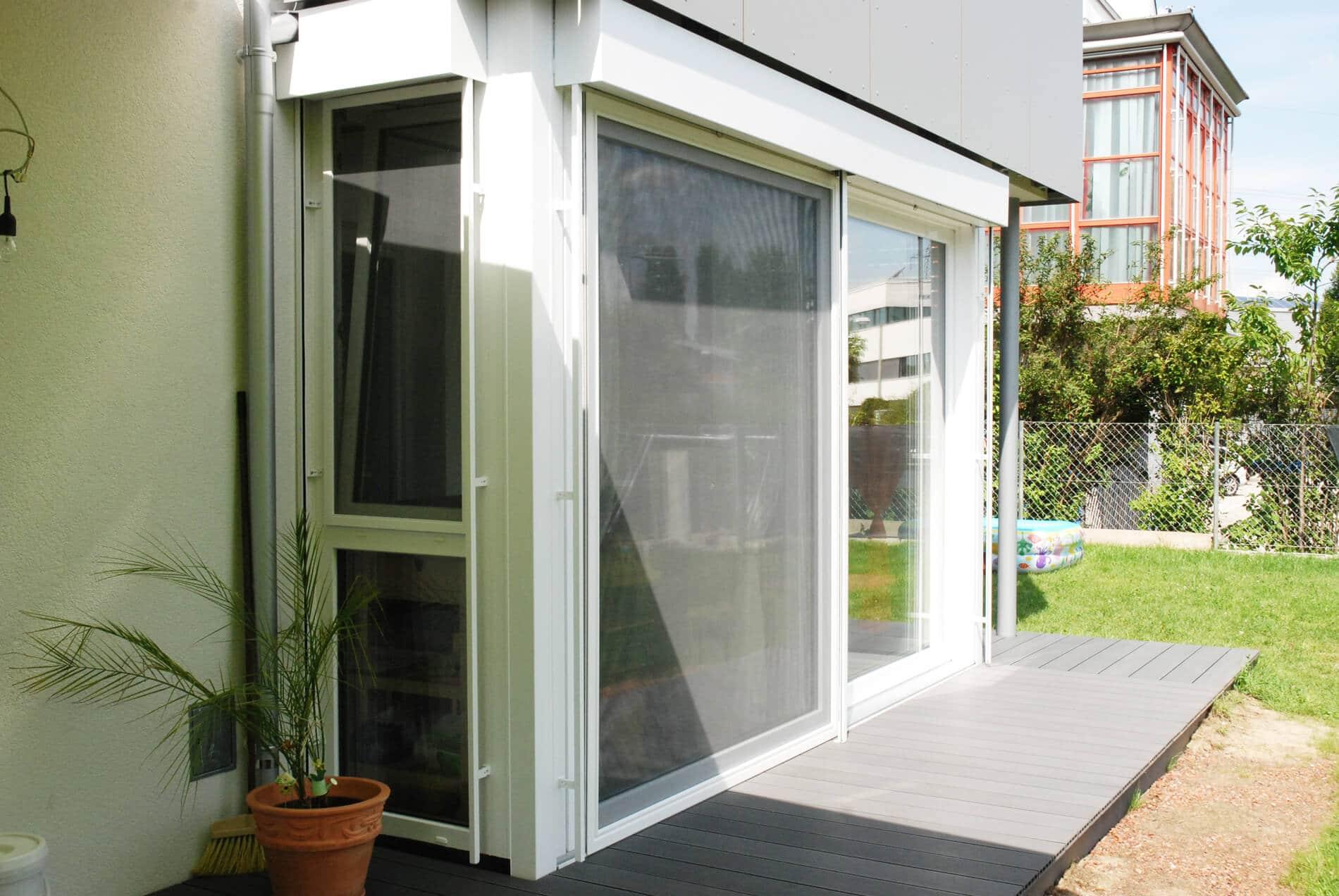 Terrassenverglasung Wohnanlage