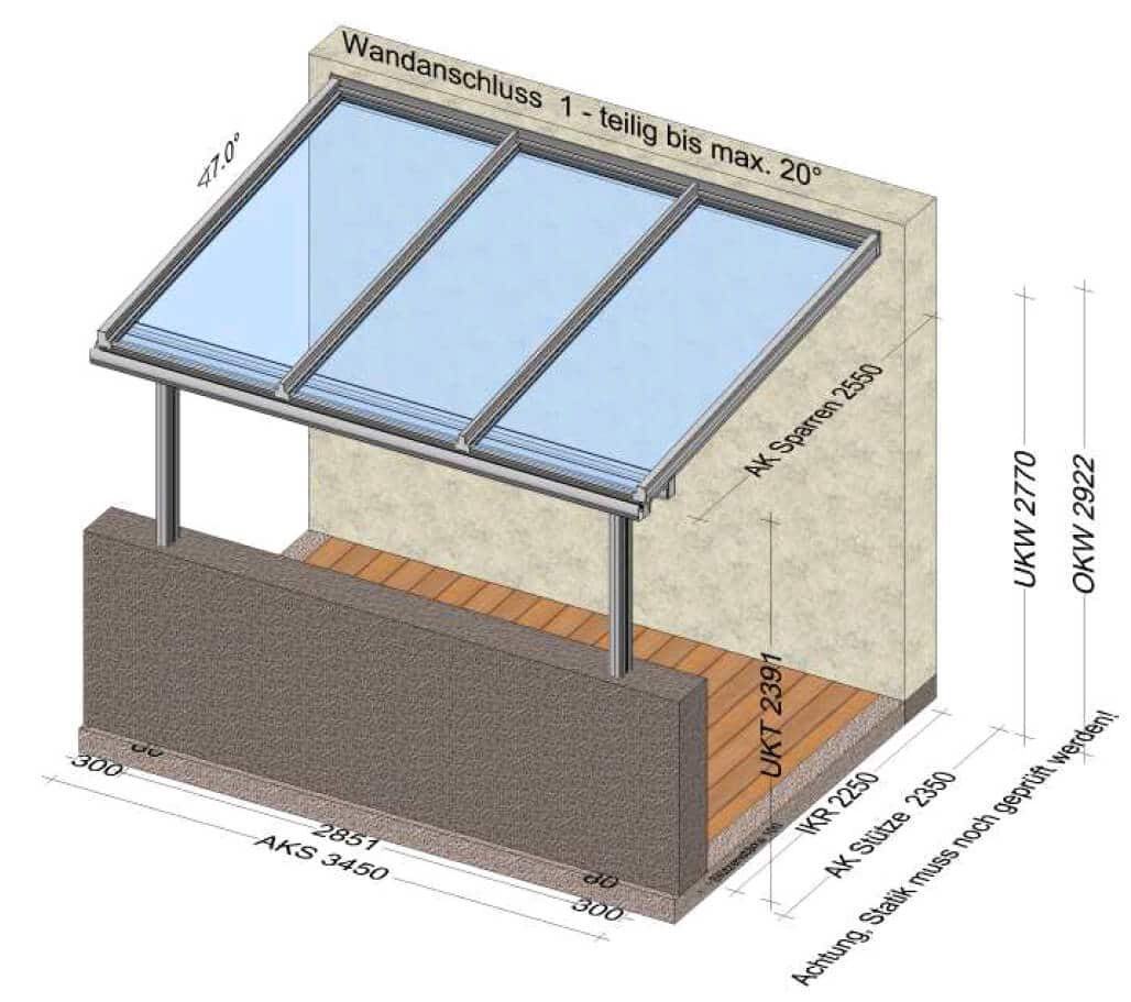 Glasüberdachung Balkone