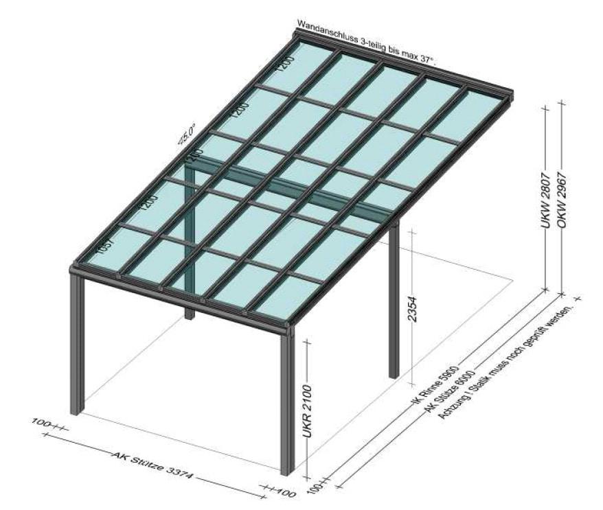 Überdachung mit PV Modulen - Planung