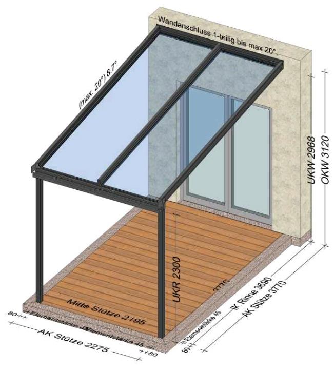 Überdachungen Alu individuell gefertigt - Planung