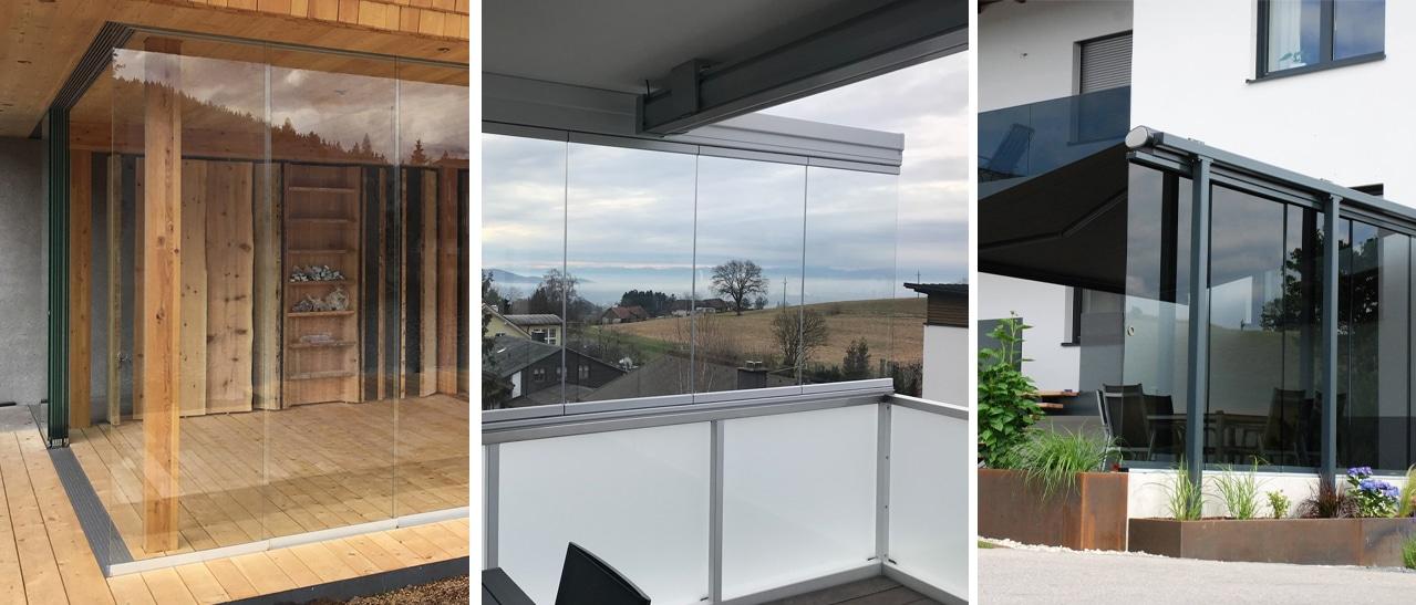 Unterschiedlichste Möglichkeiten für Wind- und Sichtschutz