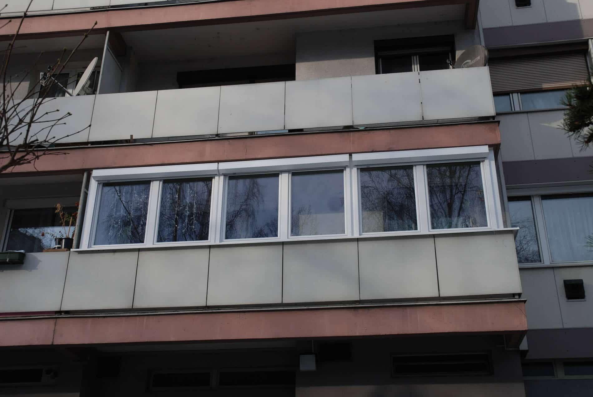 Verglasung Balkon Schallschutz
