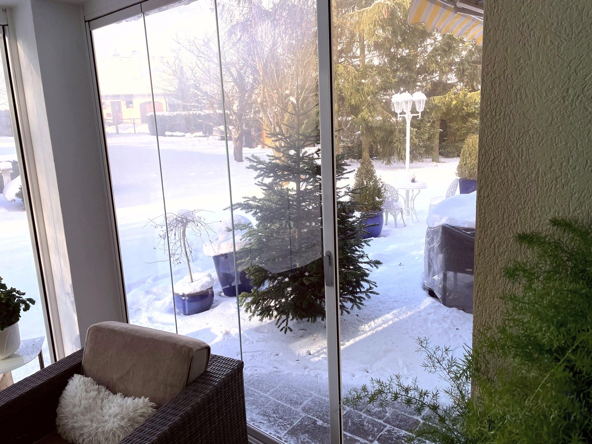 Verglasung Schutz vor Wind und Wetter