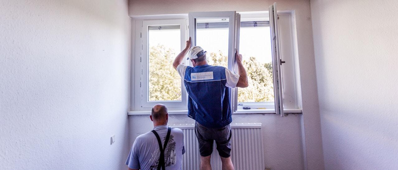 Vorbereitungen Fenstertausch