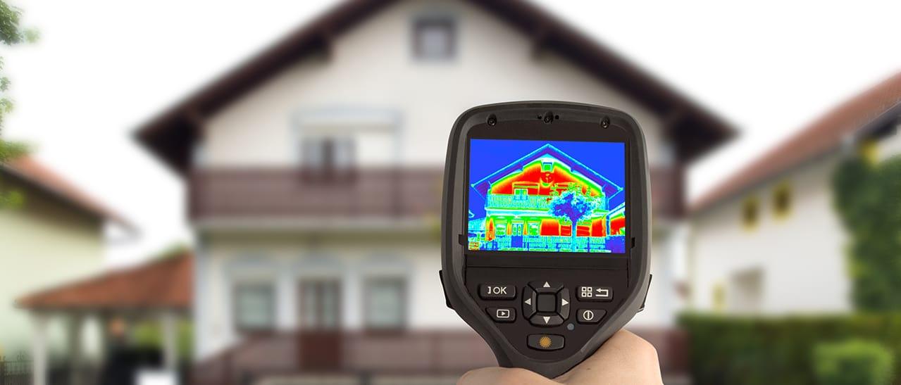 Wärmebildkamera Haus - Fenstertausch