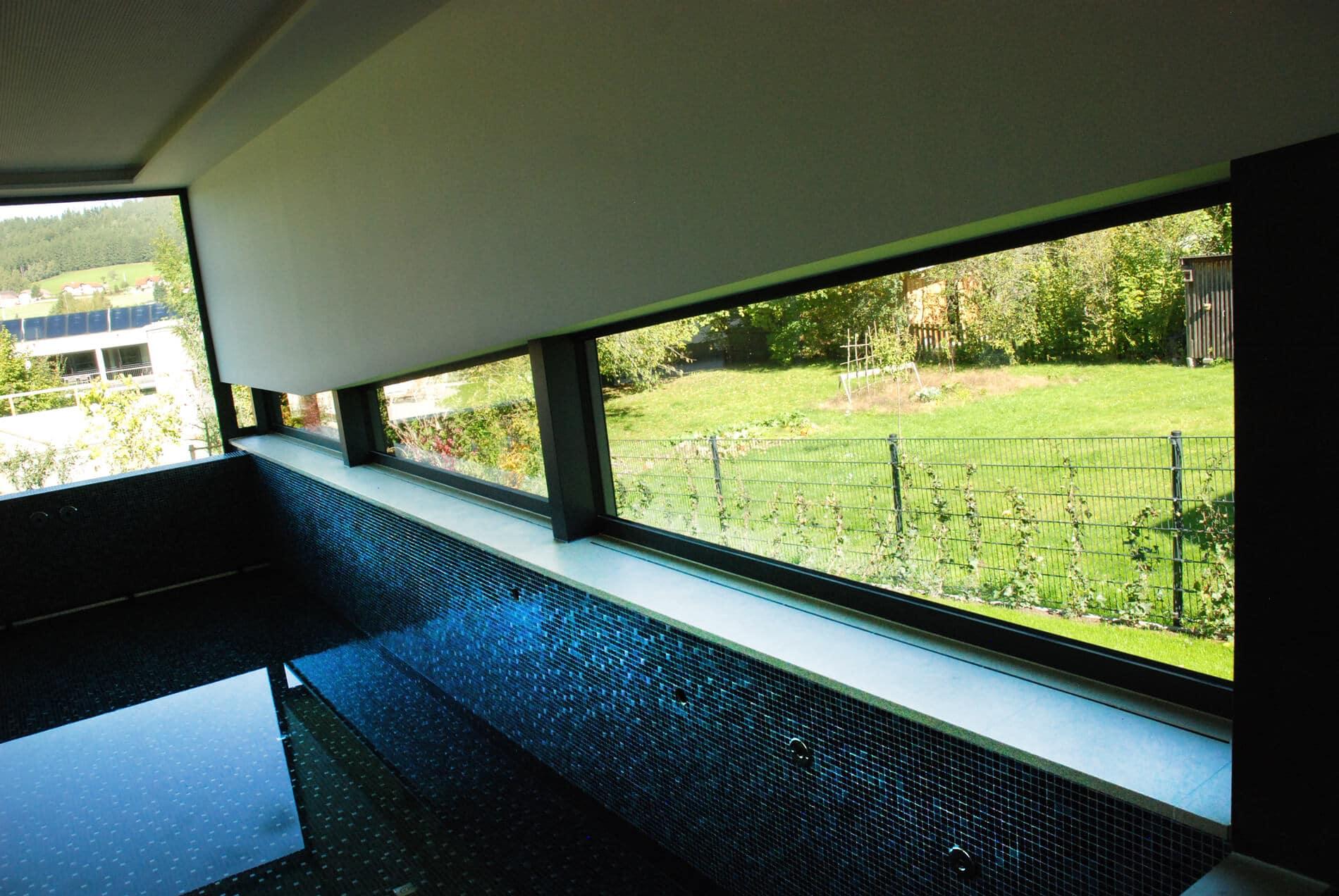 Wellnessoasen mit Panoramafenster
