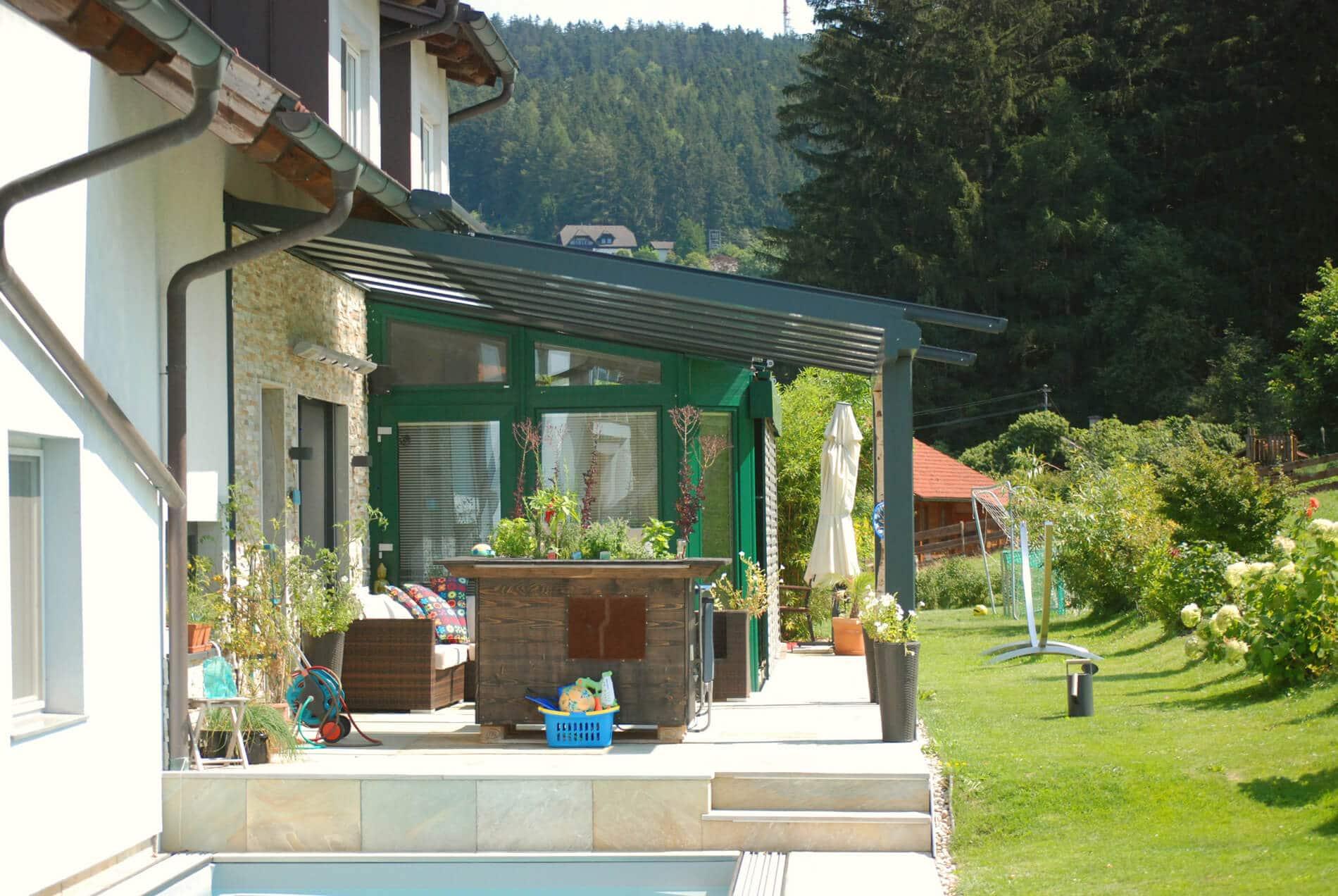Wetterschutz Terrasse Glasdach Schutzt Vor Regen Und Kalte