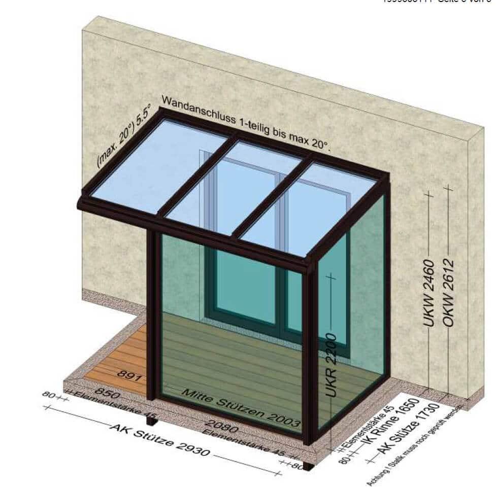 Windfang Eingangsbereich außen