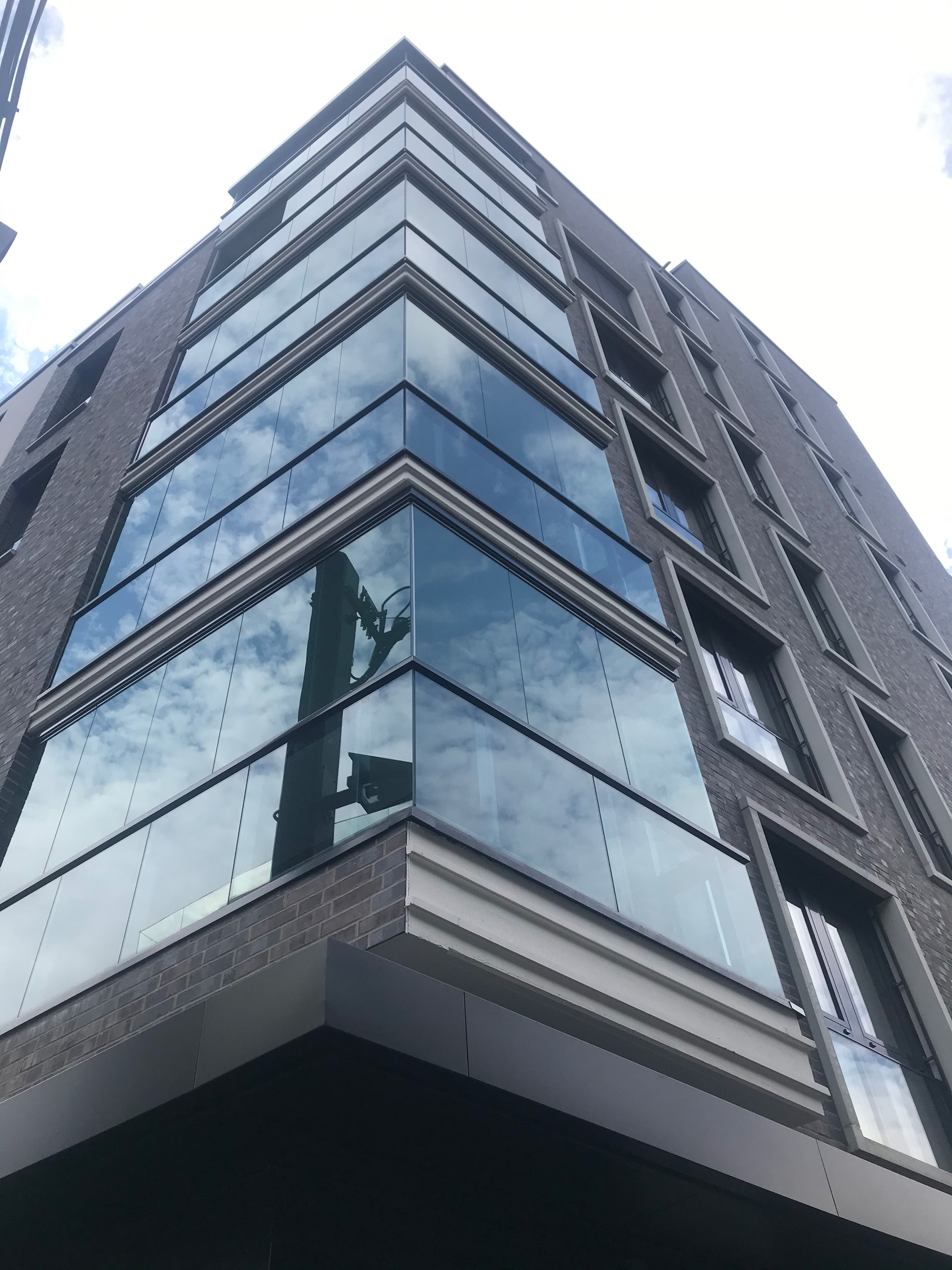 Windschutz Balkonelemente Glas