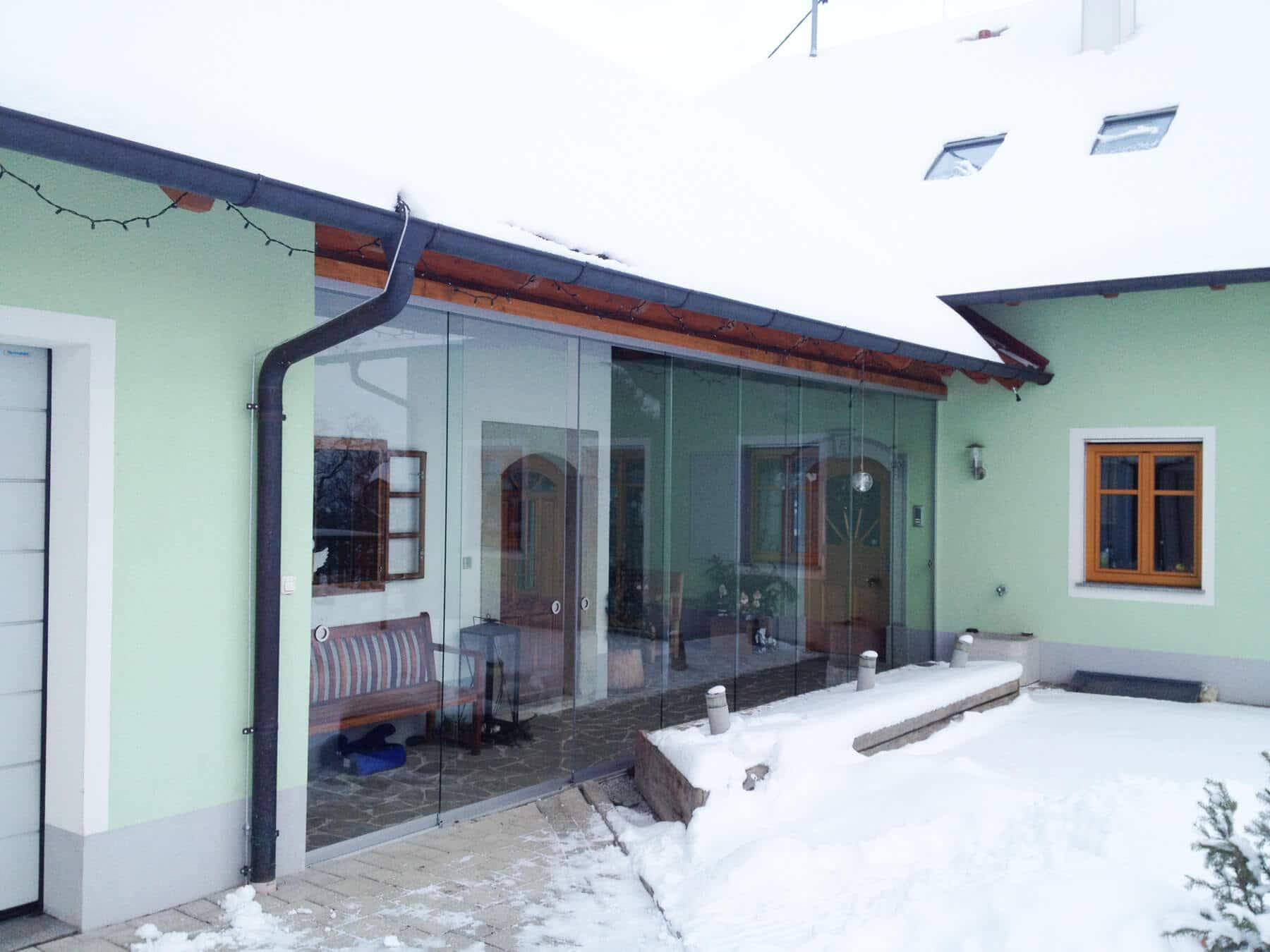 Windschutz für Hauseingang
