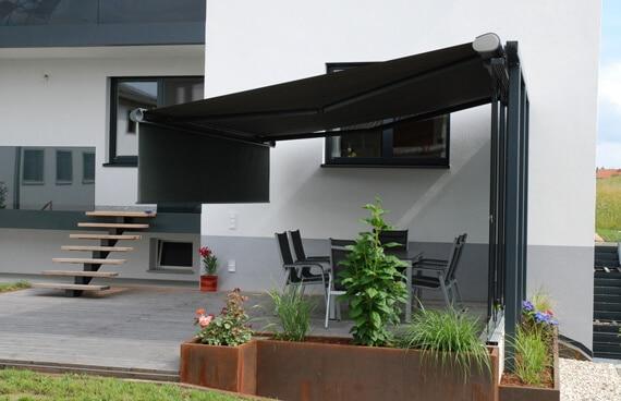 Windschutz Schiebeanlage Terrasse