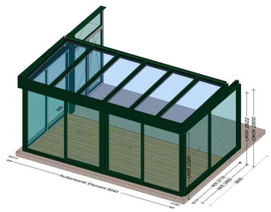 Wintergärten Hebeschiebetüren Planungen