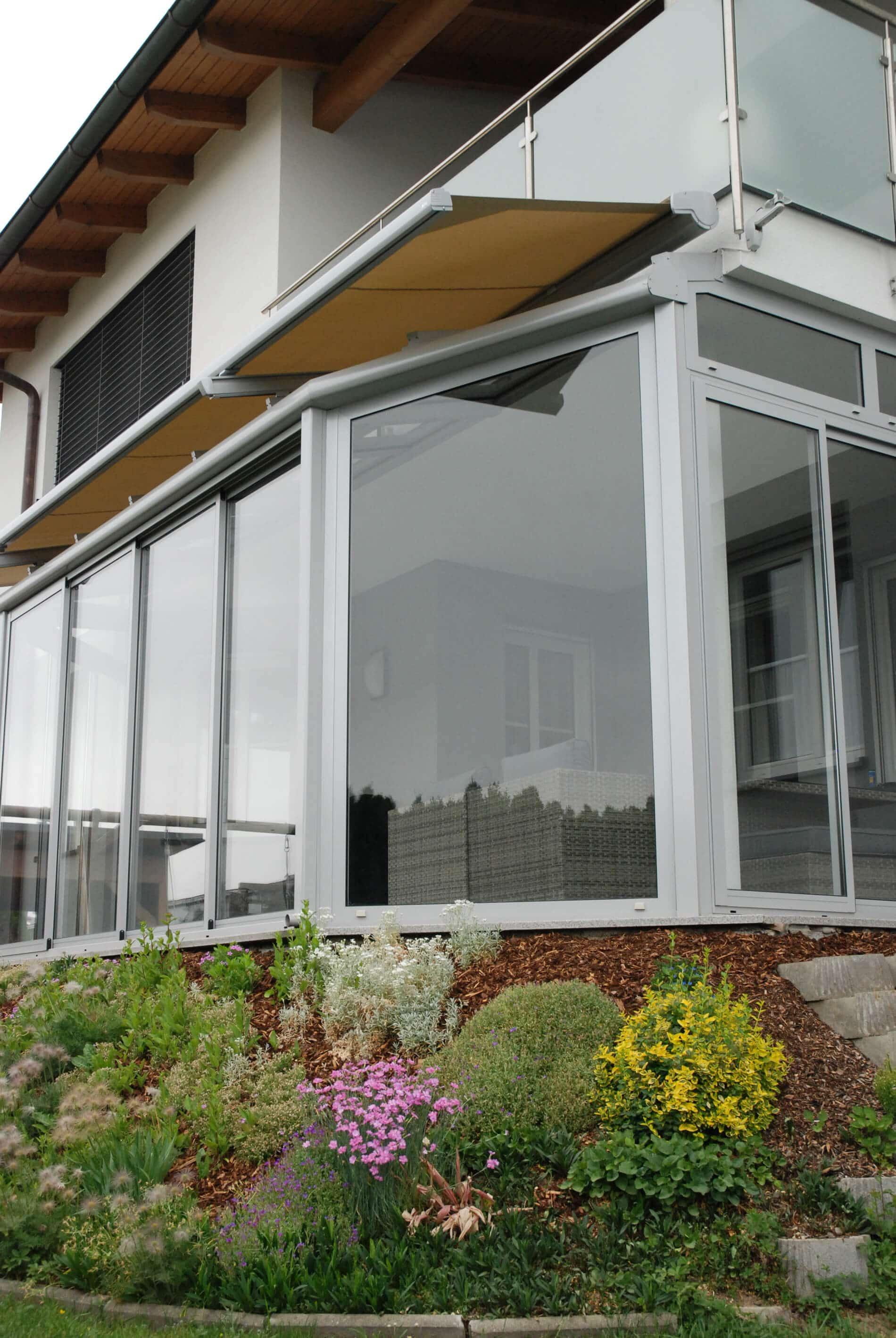vordach mit windschutz f r hauseingang edelstahl glas. Black Bedroom Furniture Sets. Home Design Ideas